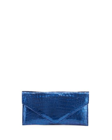 Judith Leiber Couture Flat Caiman Crocodile Envelope Clutch | Neiman Marcus