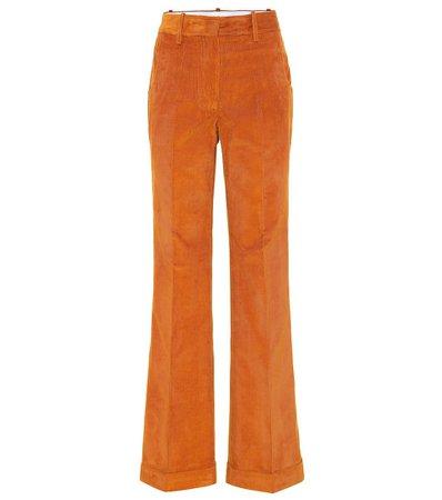 Victoria Beckham - High-rise straight corduroy pants   Mytheresa