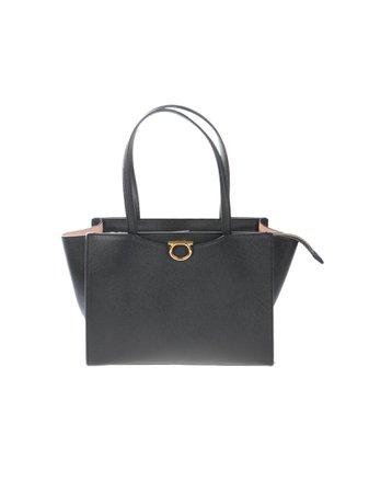 Gancini Medium Calf Leather Tote Bag