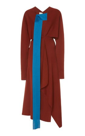 Asymmetric Draped Crepe Dress by Victoria Beckham   Moda Operandi