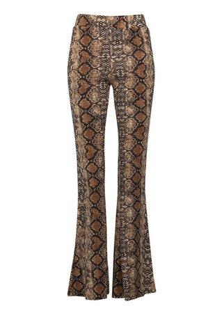 Snakeskin Flares | Animal Print Bell Bottom Pants | Pretty Attitude | Pretty Attitude