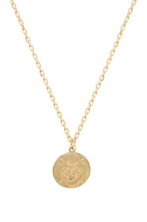 Sacred Heart Shield Necklace