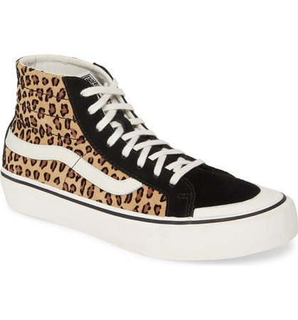 Vans Mini Leopard Sk8-Hi 138 Decon SF Sneaker (Women) | Nordstrom
