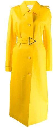 long belted raincoat
