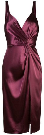 twisted front satin dress