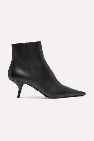 65 Leather Ankle Boots - Black