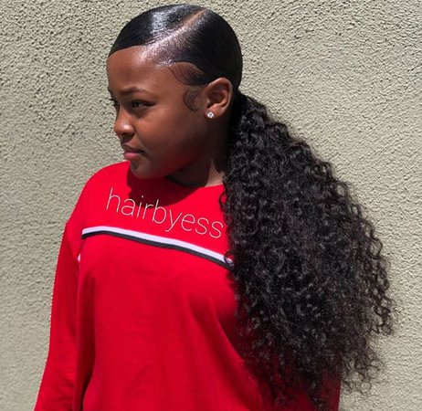 slick back ponytail black girl - Google Search