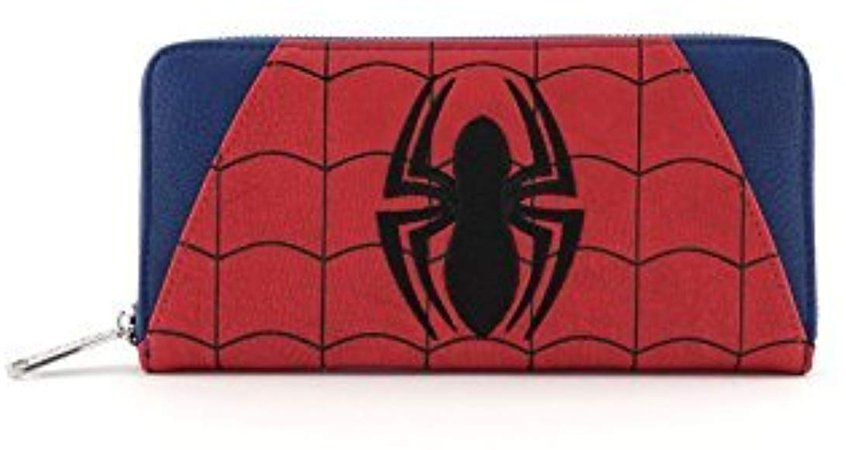 Loungefly Marvel Spider-Man: Faux Leather Zip Around Wallet Standard at Amazon Women's Clothing store: