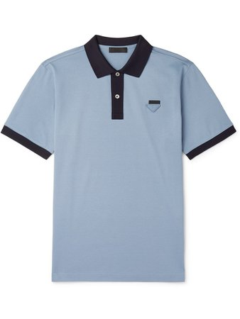 Prada Blue Men's Polo Shirt
