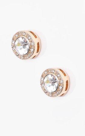 Crystal Stud Earrings   Accessories   PrettyLittleThing