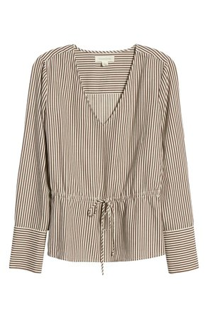 Treasure & Bond Stripe Tie Waist Top | Nordstrom