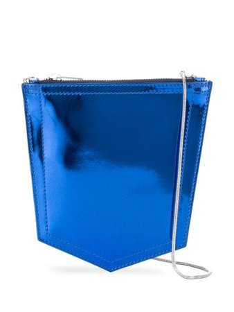 Blue Mm6 Maison Margiela Metallic Crossbody Bag   Farfetch.com