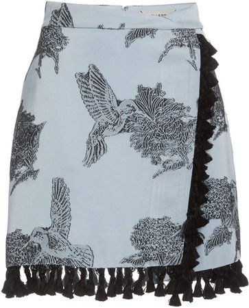 Hellessy Dorothy Faux Wrap Mini Skirt