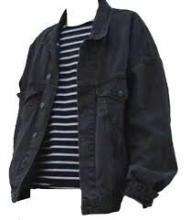 striped shirt + jacket