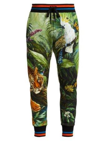 Dolce & Gabbana - Cropped Leopard-Print Pants - saks.com