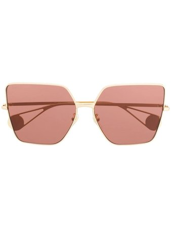Gucci Eyewear Square Tinted Sunglasses - Farfetch