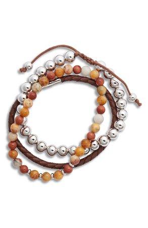 Nordstrom Men's Assorted Set of 3 Stacking Bracelets | Nordstrom