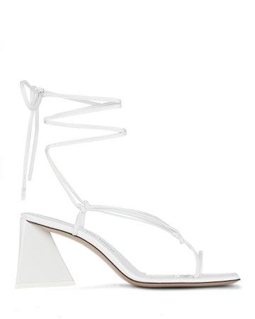 The Attico Mona Leather Wrap Sandals | INTERMIX®