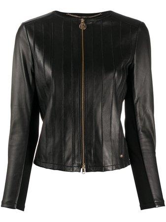 Liu Jo Leather Jacket Ss20 | Farfetch.com