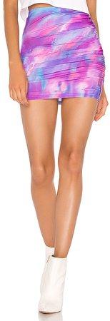Tikashi Ruched Mini Skirt
