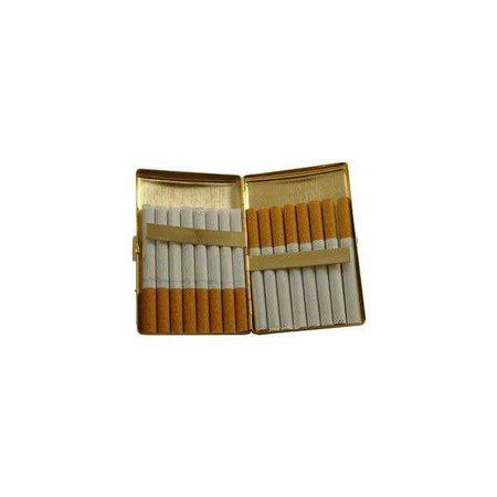 cigarettes in gold cigarette case