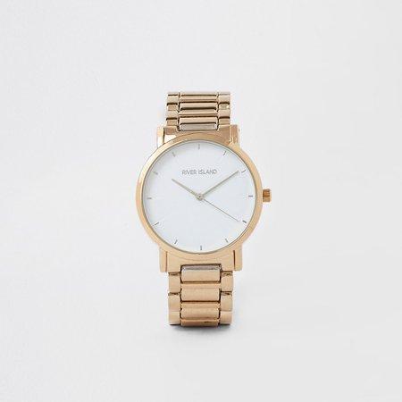 Gold color bracelet watch - Watches - women