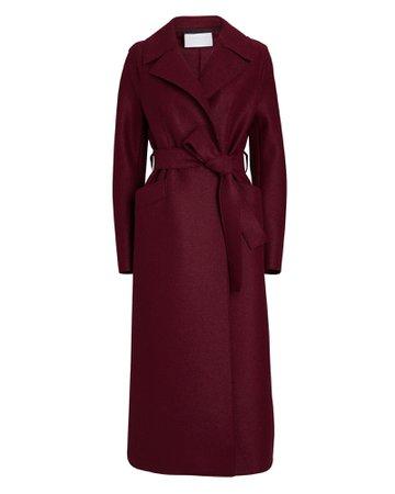 Harris Wharf London Belted Virgin Wool Coat | INTERMIX®