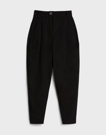 Carrot fit pants - Pants - Woman   Bershka