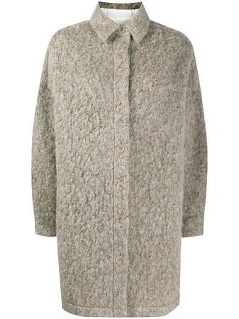 IRO Furry Knit Coat - Farfetch