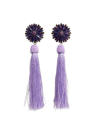 Violeta BY MANGO Tassel flower earrings