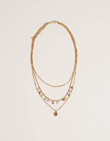 Set of charm necklaces - Jewelry - Bershka United States
