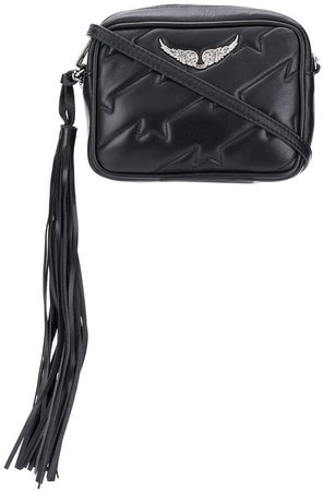 Tassel-End Quilted Cross-Body Bag
