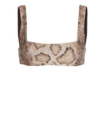 Mara Hoffman   Meli Python-Printed Bikini Top   INTERMIX®