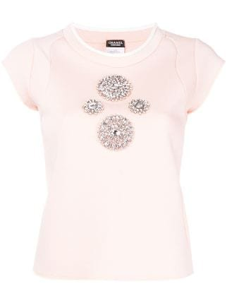 Chanel Pre-Owned crystal-embellished Top - Farfetch