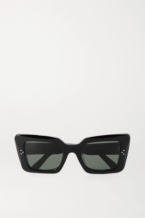 Black Oversized cat-eye acetate sunglasses | Celine | NET-A-PORTER