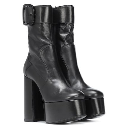 Billy Platform leather ankle boots
