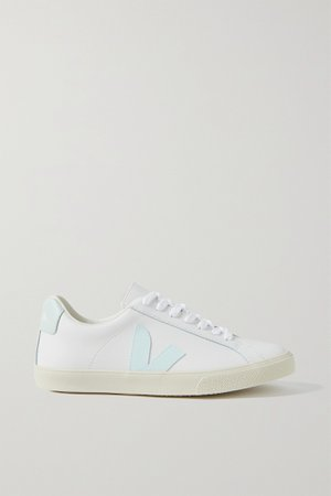 Off-white Esplar rubber-trimmed leather sneakers | VEJA | NET-A-PORTER