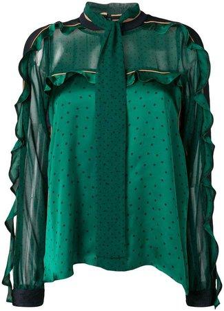 ruffle sleeved blouse