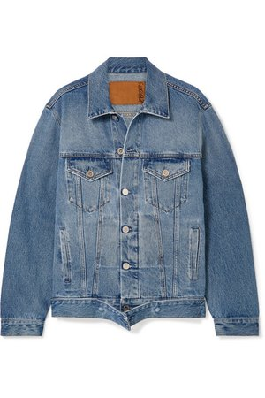 Vetements | Distressed denim jacket | NET-A-PORTER.COM