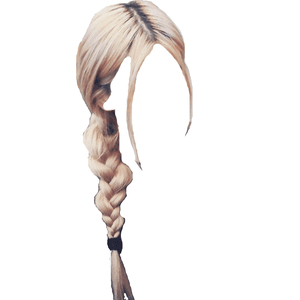 blonde hair side braid png rose