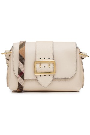 Leather Shoulder Bag with Buckle Detail Gr. One Size