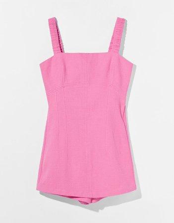 Neon romper with wide straps - Dresses - Woman | Bershka