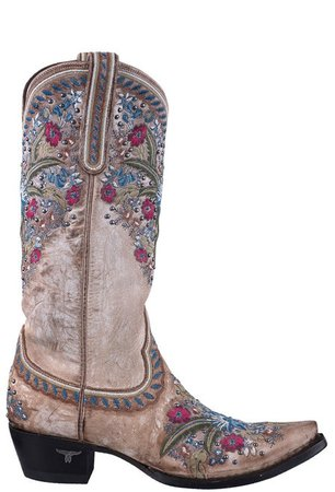 Lane Flower Cowboy Boots | Shop Women's Floral Cowboy Boots at Pinto Ranch