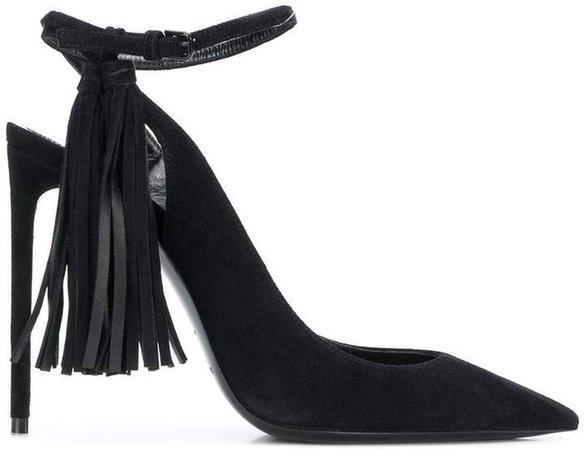 tassel-embellished slingback pumps