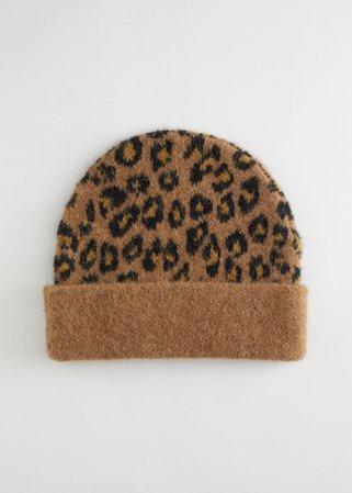 Fuzzy Leopard Beanie Hat - Leopard - Beanies - & Other Stories