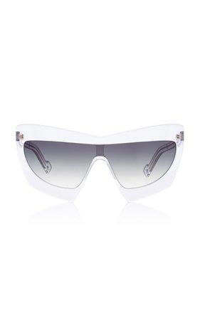 Duabelas Oversized Aviator-Style Acetate Sunglasses by PAWAKA | Moda Operandi