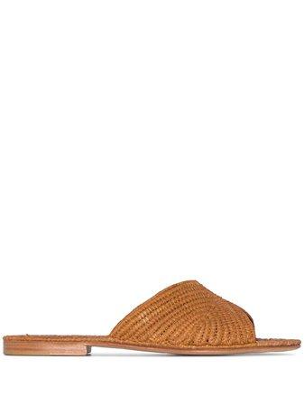 Carrie Forbes Salon Raffia Flat Sandals - Farfetch