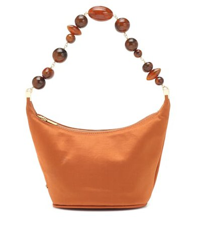 Gia silk-satin shoulder bag