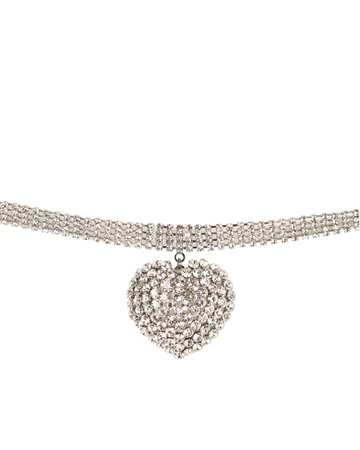 alessandra rich Heart Choker necklace