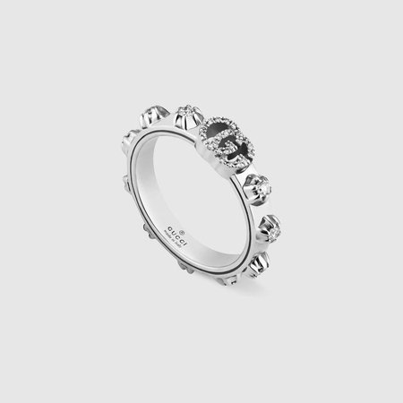 18k White Gold GG Running Ring | GUCCI® International